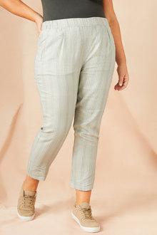 Sara Linen Stripe Pant - 224549