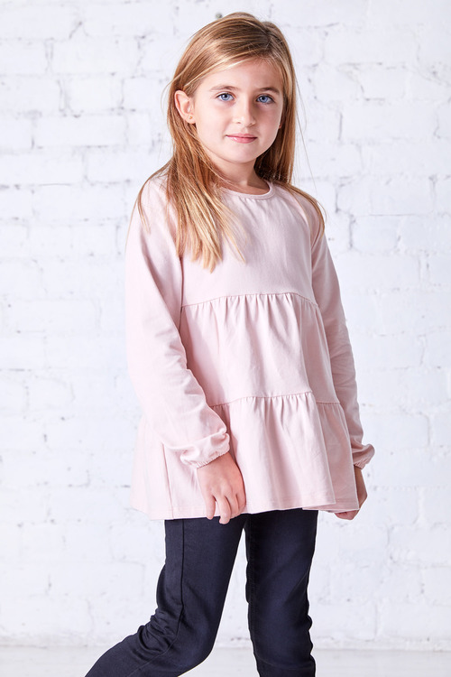 Pumpkin Patch Long Sleeve Tiered Top