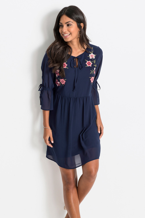 Urban Embroidery Tunic Dress