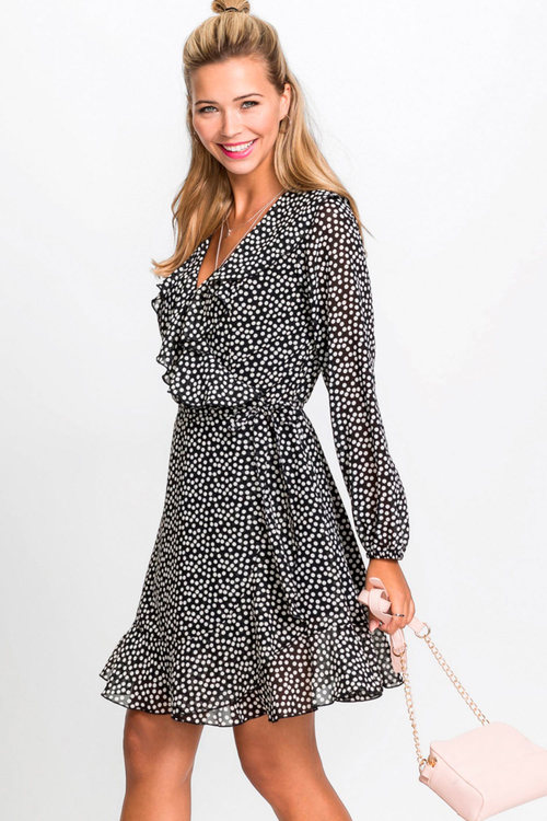 Urban Frill Wrap Dress