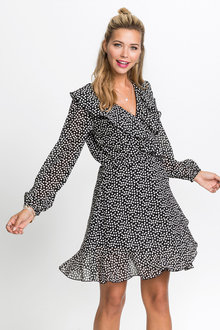 Urban Frill Wrap Dress - 224571