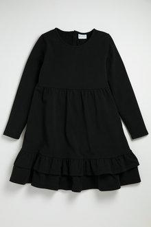 Pumpkin Patch Long Sleeve Dress with Frill Hem - 224574