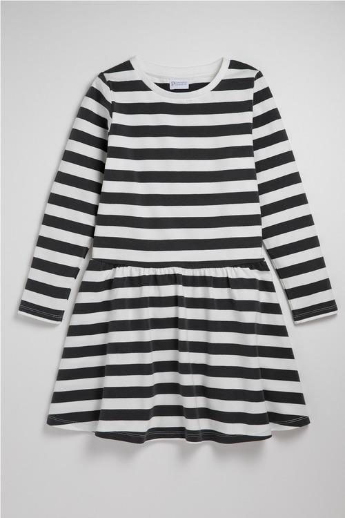 Pumpkin Patch Cotton Elastane Striped Twirl Dress