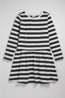 Pumpkin Patch Cotton Elastane Striped Twirl Dress