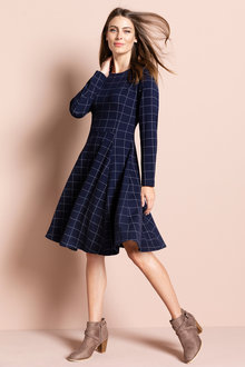 Capture Ponte Flare Dress