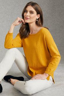 Grace Hill Cotton Cashmere Sweater - 224606