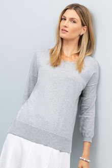 Grace Hill Cotton Cashmere Sweater