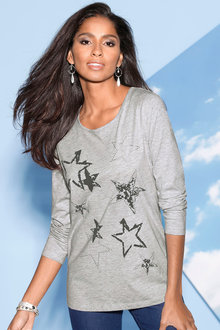 Capture European Star Print Top
