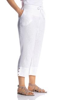 Sara Linen Crop Pant - 224626