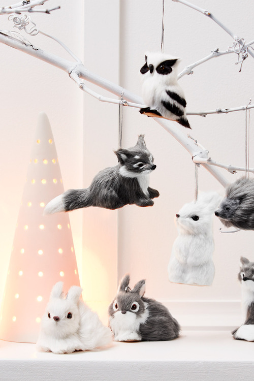 Woodland Bunny Hanging Decorations Set of Two
