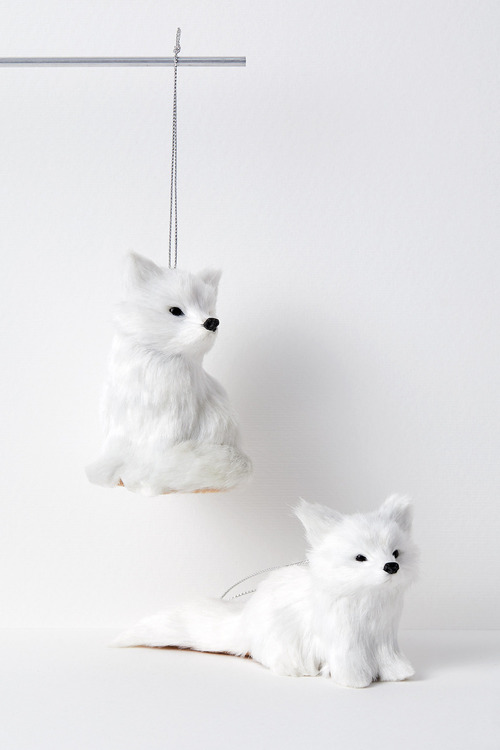 Woodland Fox Hanging Decorations Set of Two