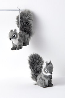Woodland Squirrel Hanging Decorations Set of Two