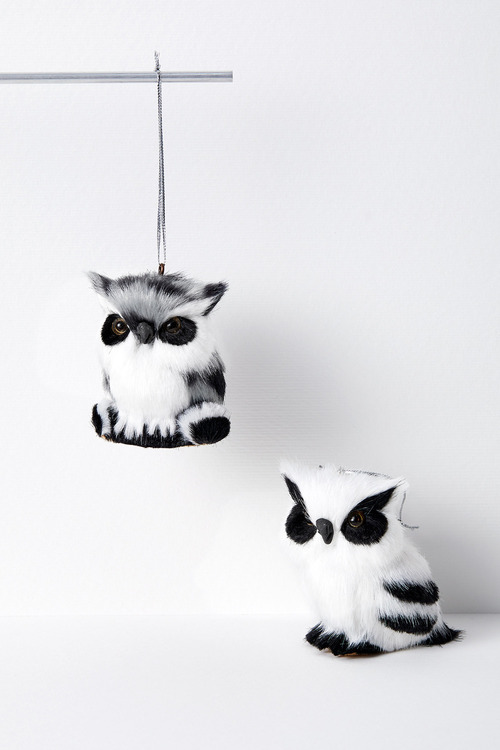 Woodland Owl Hanging Decorations Set of Two