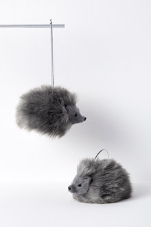 Woodland Hedgehog Hanging Decorations Set of Two