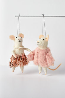Glam Mice Hanging Decorations Set of Two