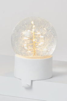 LED Tree Snow Globe Stocking Holder