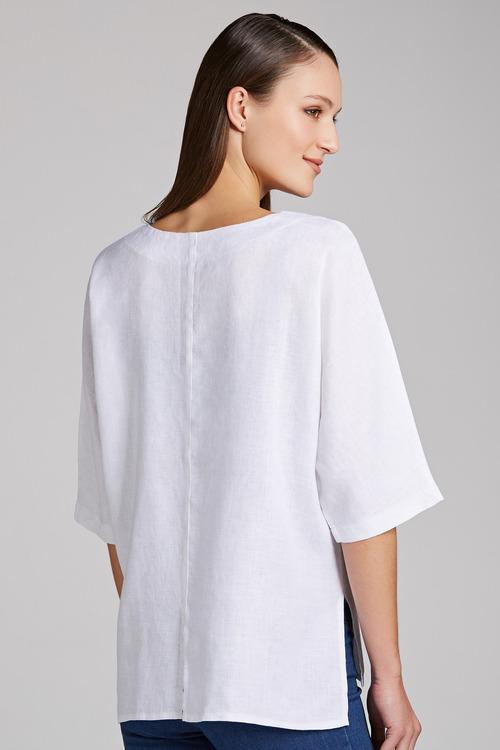 Grace Hill Linen Asymmetrical Top