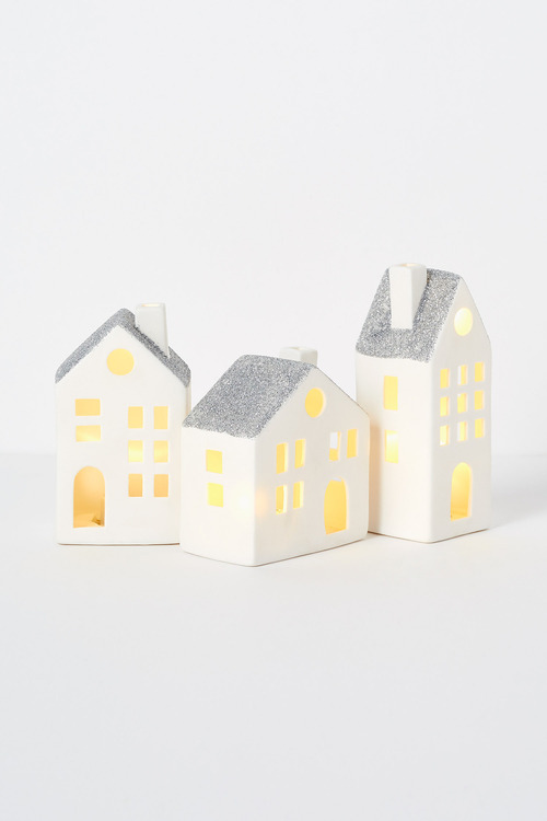 Village LED Mini House Set of Three