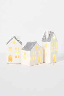 Village LED Mini House Set of Three