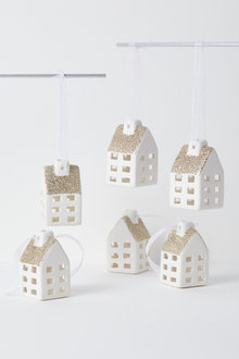 Village Hanging Decorations Set of Six - 224655