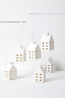 Village Hanging Decorations Set of Six