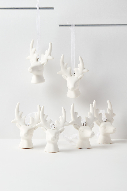 Stag Hanging Decorations Set of Six