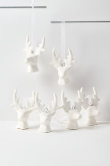 Stag Hanging Decorations Set of Six - 224656