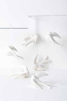 Dove Hanging Decorations Set of Six