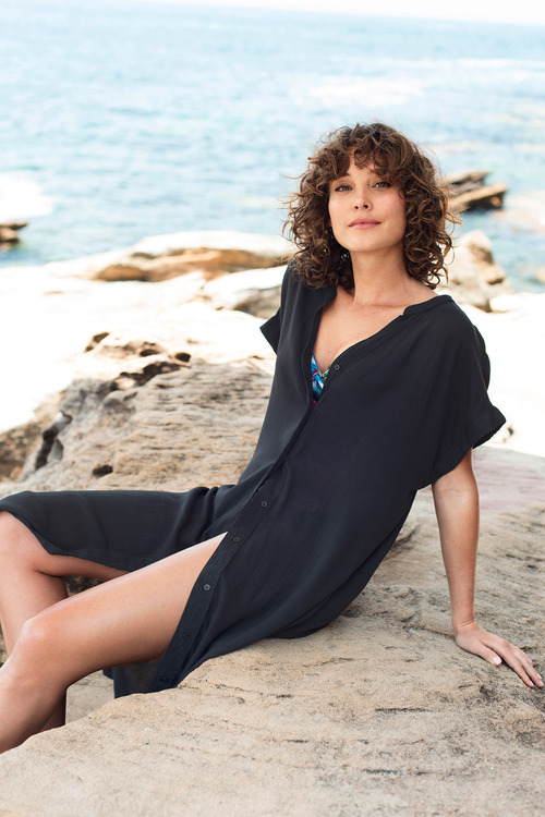 Capture Swimwear Button Down Cover Up