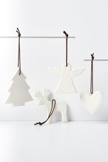 Christmas Icon Hanging Decorations Set of Four