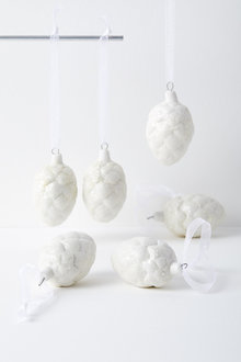 Sparkle Pinecone Hanging Decorations Set of Six