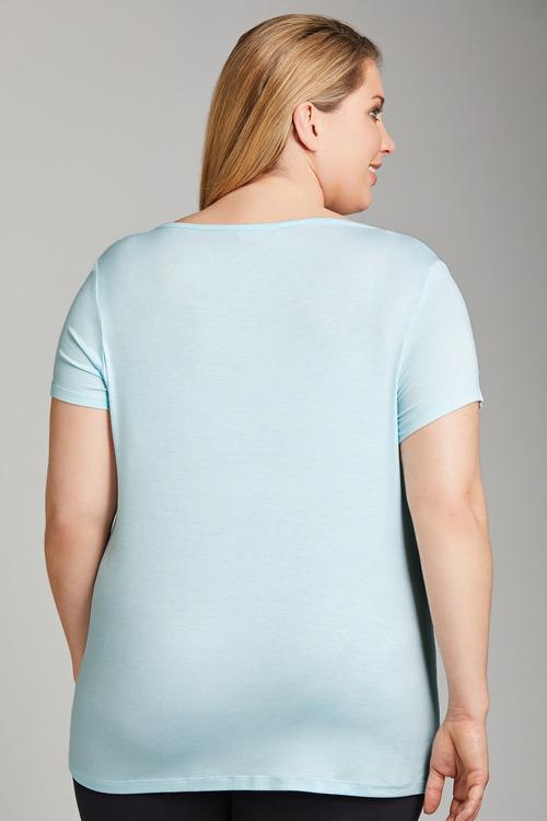 Plus Size - Sara Soft V Neck Tee