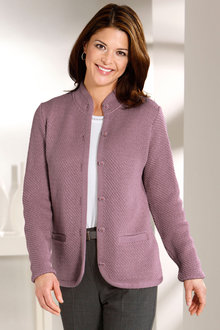 Capture European Textured Cardigan