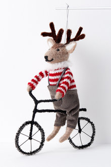 Bicycle Candy Reindeer Decoration