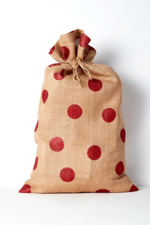 Santa Sack Glitter Polka Dots