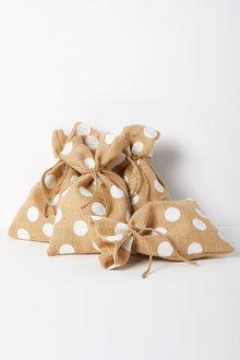 Loot Sack Glitter Polka Dot Set of Four - 224733