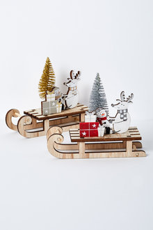 Santas Workshop Sleigh Ornament