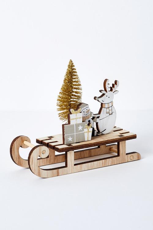 Santas Workshop Sleigh Ornament