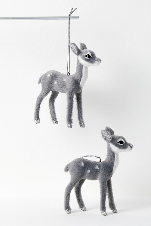Woodland Reindeer Hanging Decorations Set of Two