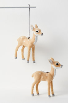 Woodland Reindeer Hanging Decorations Set of Two - 224755