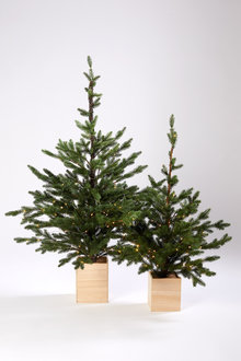 Prelit Christmas Tree with Box Planter
