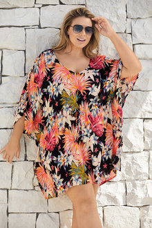 Plus Size - Sara Swimwear Kaftan - 224758