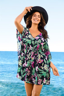 Plus Size - Sara Swimwear Kaftan