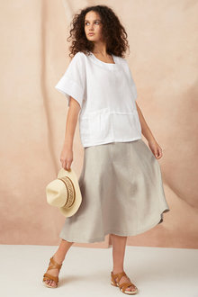 Capture Linen Pull On Skirt - 224766