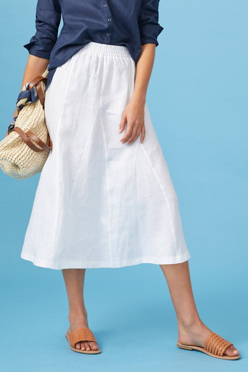 Capture Linen Pull On Skirt
