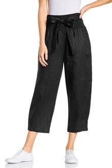 Grace Hill Pull On Tie Waist Crop Linen Pants - 224767