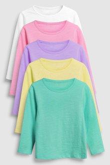 Next Bright Long Sleeve T-Shirts Five Pack (3mths-7yrs)