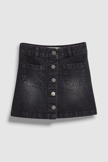 Next Denim Button Through Skirt (3-16yrs)
