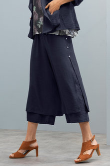 Grace Hill Button Detail Layered Pant