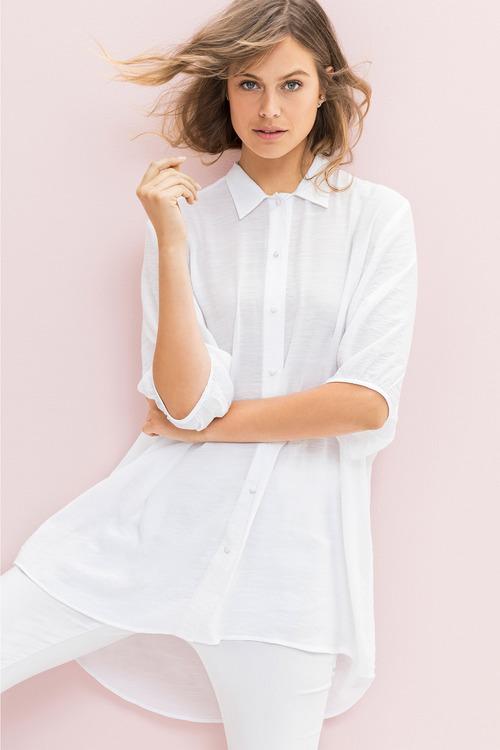 Emerge Button Up Longline Shirt